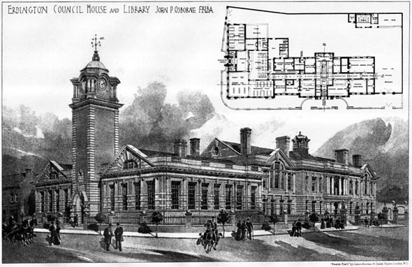 1905 – Erdington Council House & Library, Birmingham, Warwickshire
