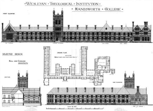 1879 – Wesleyan Theological Institution, Birmingham, Warwickshire