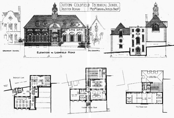 1903 &#8211; Sutton Coldfield Technical School, Warwickshire