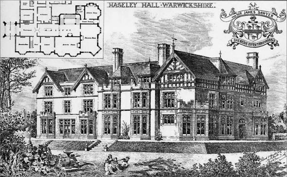 1892 &#8211; Haseley Hall, Warwickshire