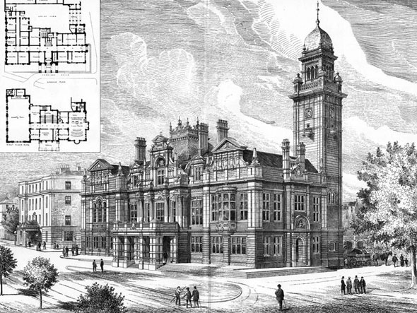 1884 – Leamington Spa Town Hall, Warwickshire