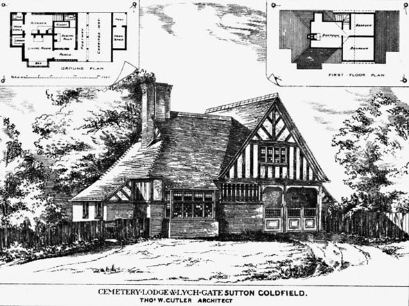 1880 &#8211; Cemetery Lodge &#038; Lych Gate, Sutton Coldfield, Warwickshire