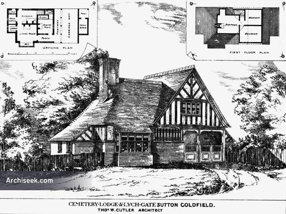 1880 – Cemetery Lodge & Lych Gate, Sutton Coldfield, Warwickshire