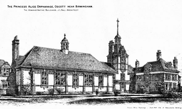 1886 &#8211; The Princess Alice Orphanage, Oscott, Birmingham, Warwickshire