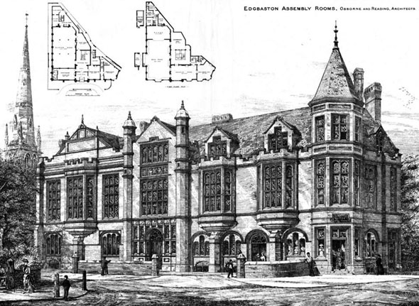 1886 &#8211; Edgbaston Assembly Rooms, Warwickshire