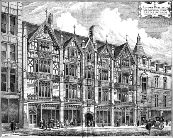 1886 &#8211; Jevons Buildings, Corporation Street, Birmingham