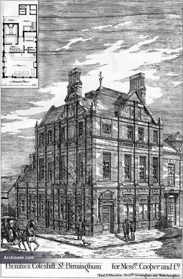 1879 – Coopers & Co., Coleshill Street, Birmingham