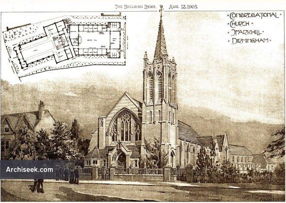 1905 – Congregational Church, Sparkhill, Birmingham