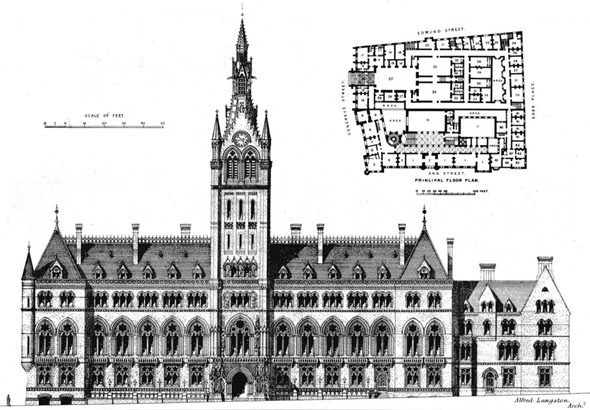 1871 &#8211; Unbuilt design for new Law Courts, Birmingham