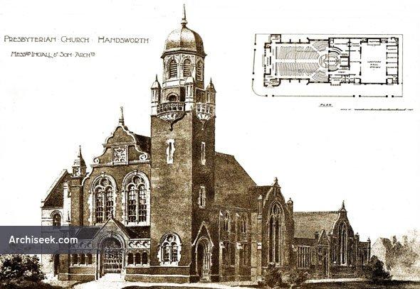 1897 – Presbyterian Church, Handsworth, Birmingham