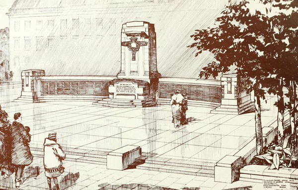 1919 – Design for War Memorial, Leamington Spa, Warwickshire