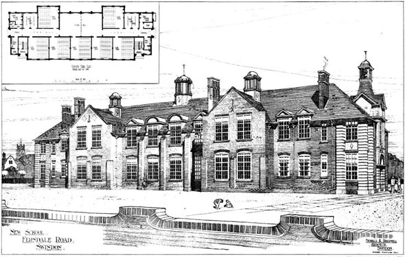 1905 &#8211; New School, Fersdale Road, Swindon, Wiltshire