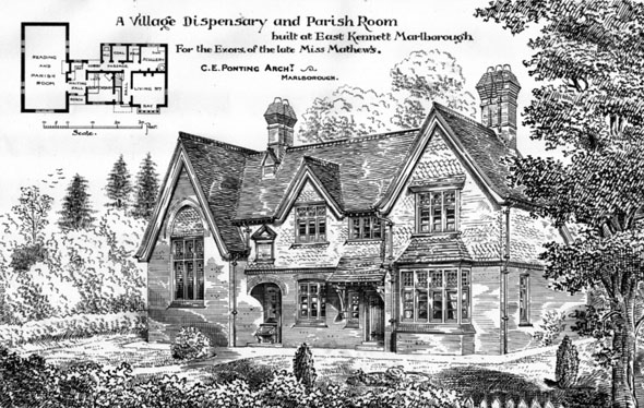 1884 – Village Dispensary & Parish Room, East Kennett, Marlborough, Wiltshire