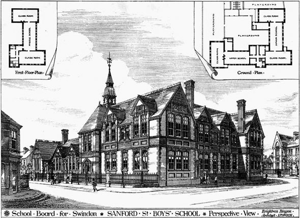 1881 &#8211; Sanford Street Boys&#8217; School, Swindon, Wiltshire