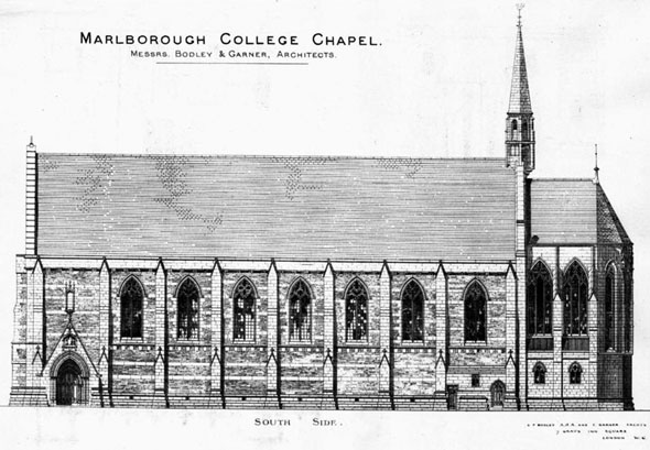 1886 &#8211; Malborough College Chapel, Malborough, Wiltshire