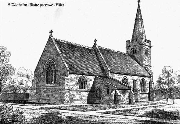 1876 &#8211; St. Aldhelm&#8217;s Church, Bishopstrowe, Wiltshire