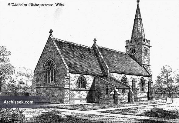 1876 – St. Aldhelm's Church, Bishopstrowe, Wiltshire