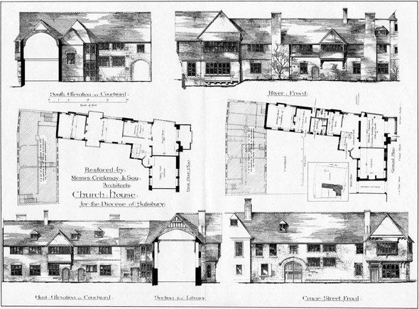 1886 &#8211; Restoration of Church House, Salisbury, Wiltshire