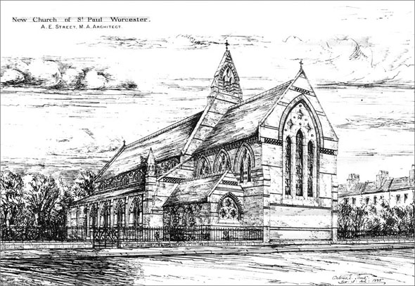 1886 &#8211; St. Paul&#8217;s Church, Worcester, Worcestershire