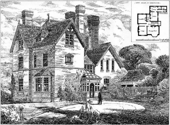 1878 &#8211; New House at Worcester, Worcestershire