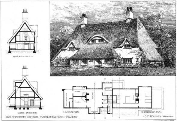 1904 – Cottages, Madresfield Court, Malvern, Worcestershire