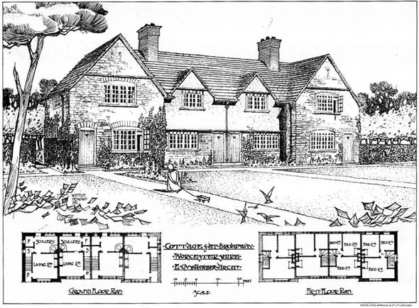 1904 &#8211; Cottages at Broadway, Worcestershire