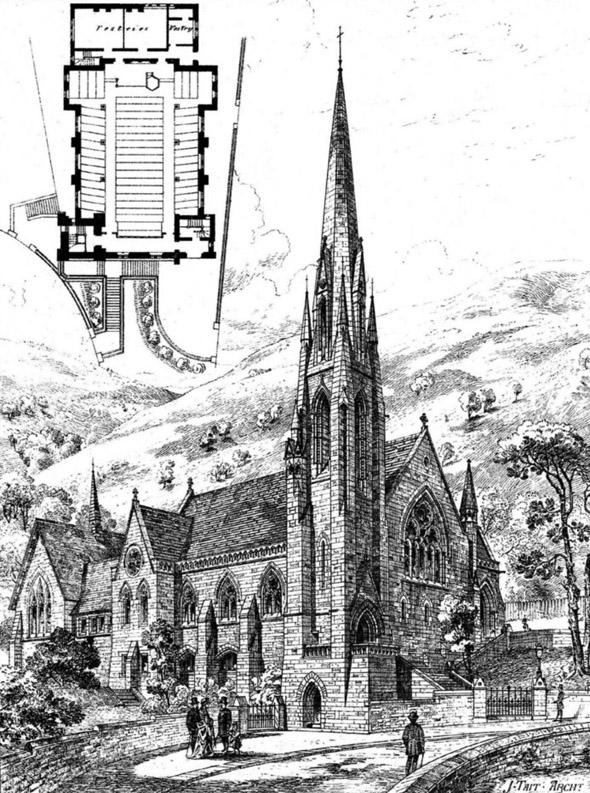 1876 &#8211; Congregational Church, Great Malvern, Worcestershire