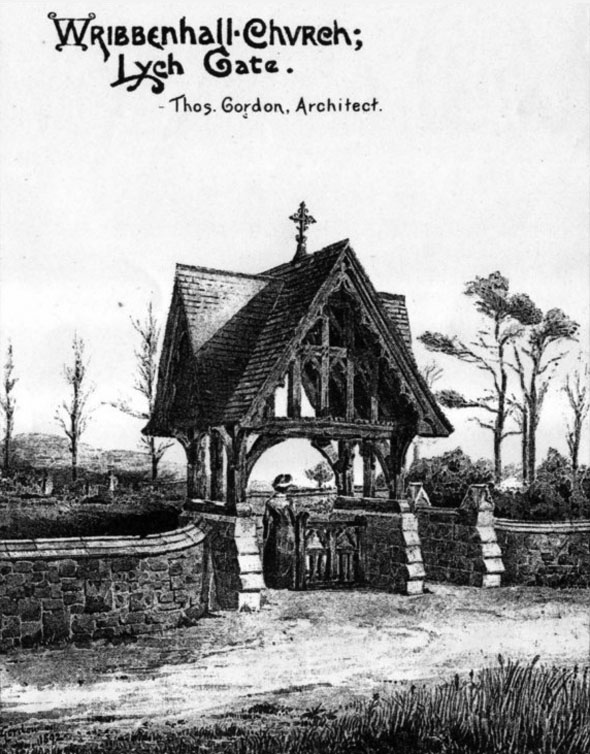 1892 &#8211; Wribbenhall Church Lych Gate, Worcestershire