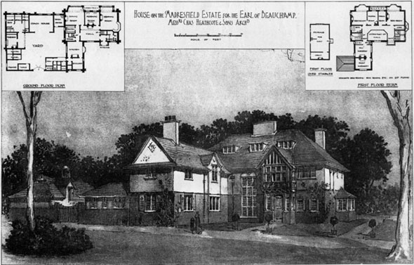 1906 – House on The Madresfield Estate, Worcester, Worcestershire
