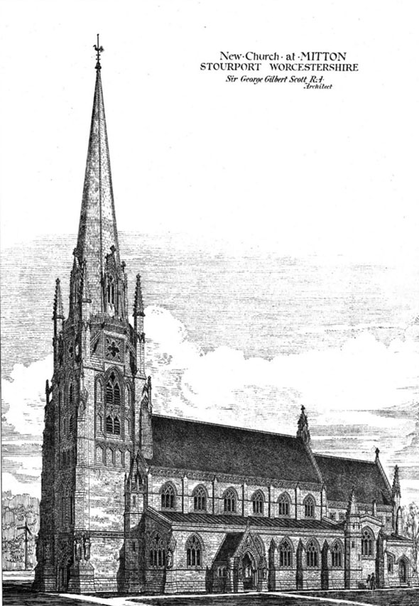1876 &#8211; New Church, Mitton, Stourport, Worcestershire