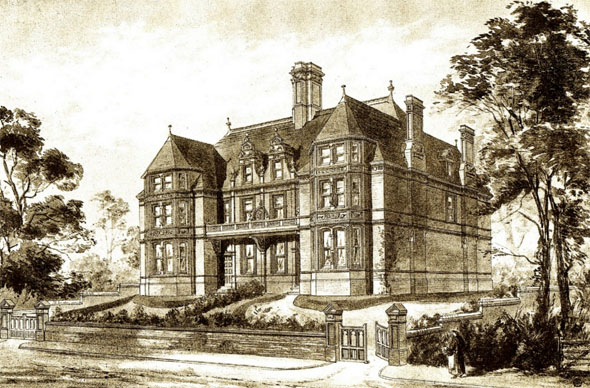 1884 &#8211; Semi Detatched Villas,Kings Norton, Worcestershire