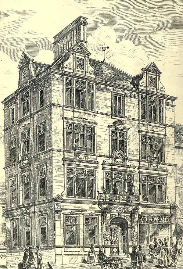 1881 &#8211; Offices in Sunbridge Road, Bradford, Yorkshire
