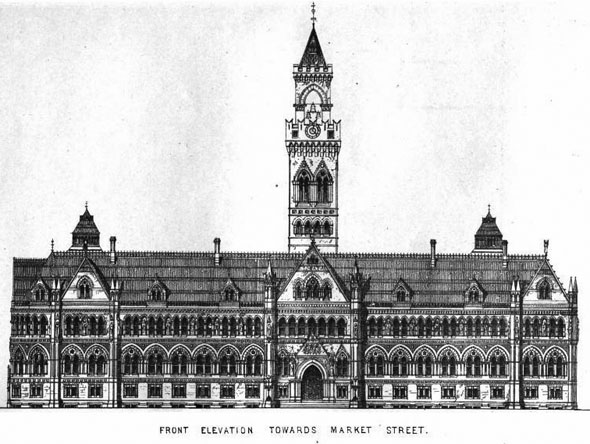 1873 &#8211; New Townhall, Bradford, Yorkshire