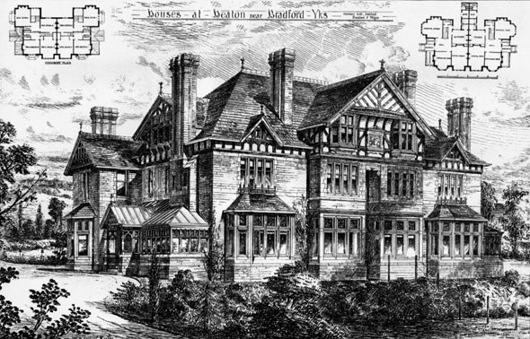 1887 &#8211; Houses at Heaton, Bradford, Yorkshire