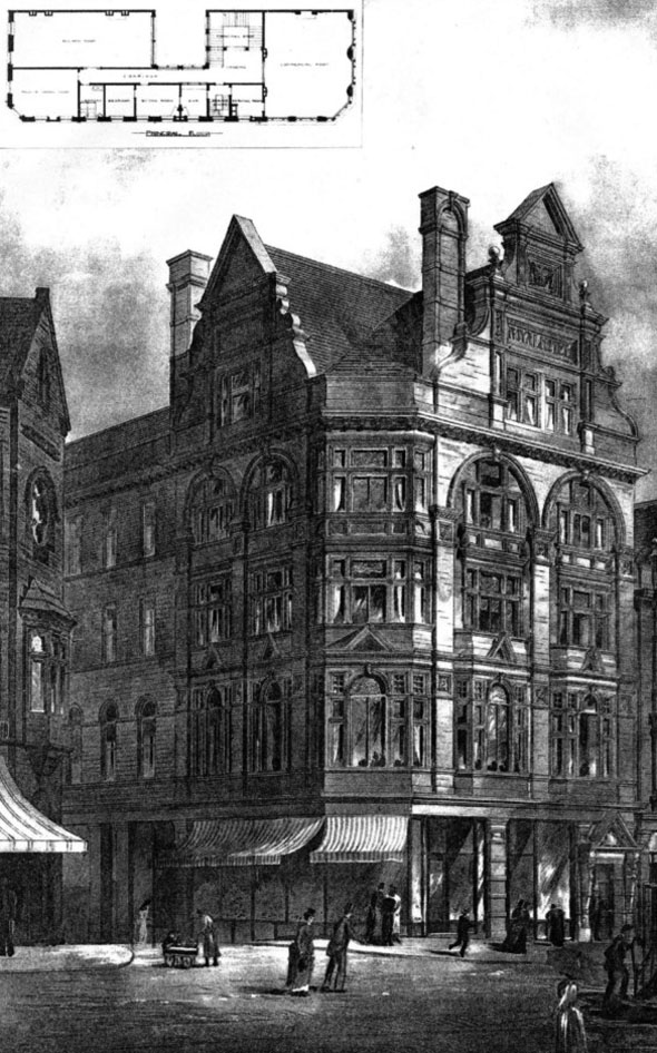 1887 &#8211; Royal Hotel Buildings, Bradford, Yorkshire