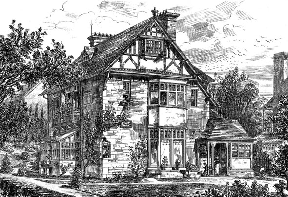 1883 – House at Heaton, Bradford, Yorkshire