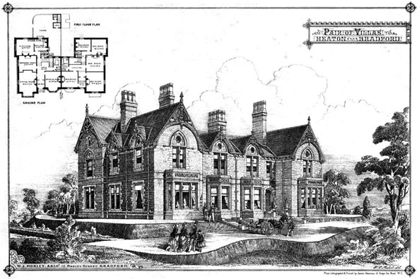 1875 &#8211; Pair of Villas at Heaton, Bradford, Yorkshire