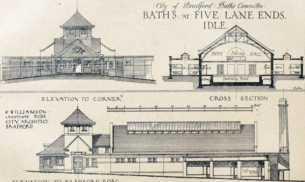 1919 – Public Baths, Five Lane Ends, Idle, Bradford, Yorkshire
