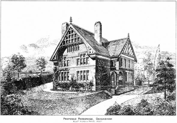 1882 – Parsonage at Oakenshaw, Nr. Bradford, Yorkshire