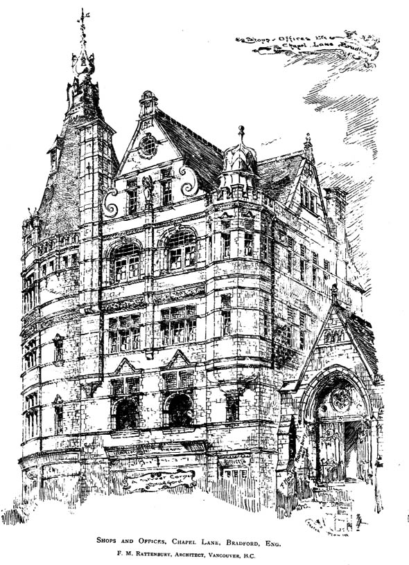 1893 – Shops and offices, Chapel Lane, Bradford, Yorkshire