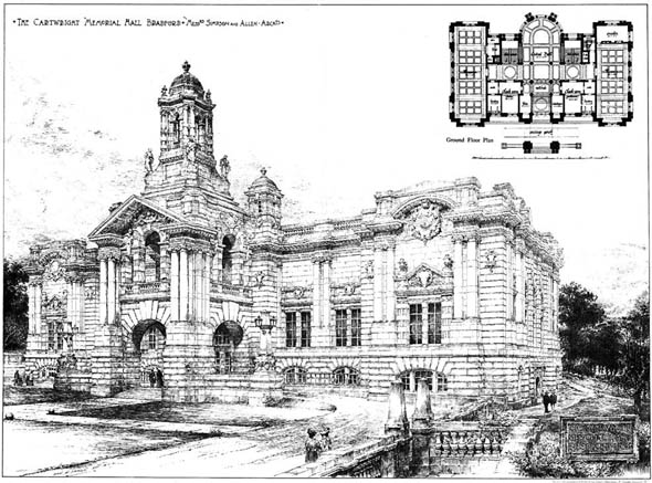 1901 – Cartwright Memorial Hall, Bradford, Yorkshire