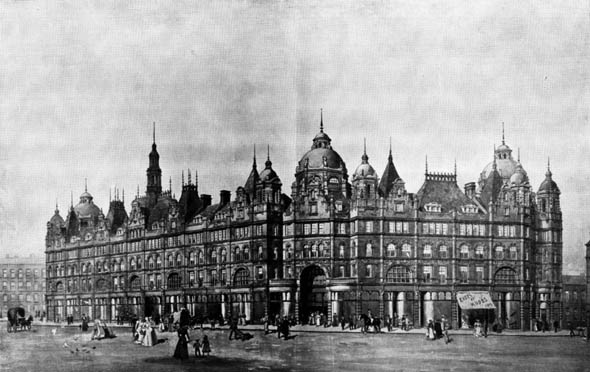 1901 &#8211; New Borough Market Hall, Leeds, Yorkshire