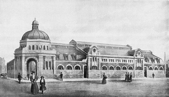 1898 – Unbuilt Design for Leeds Meat Market & Abbatoirs, Yorkshire