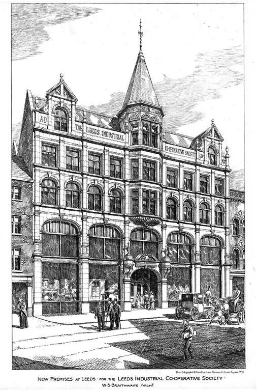 1892 &#8211; New Premises Leeds Industrial Co-operative Society, Yorkshire