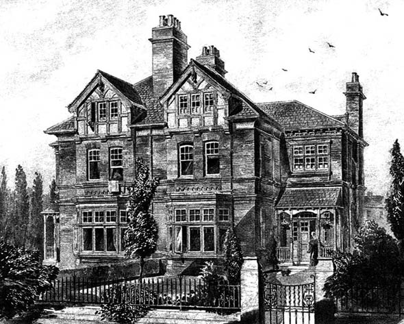 1883 &#8211; Semi-Detatched Villas, Broomfield Crescent, Headingley, Leeds, Yorkshire