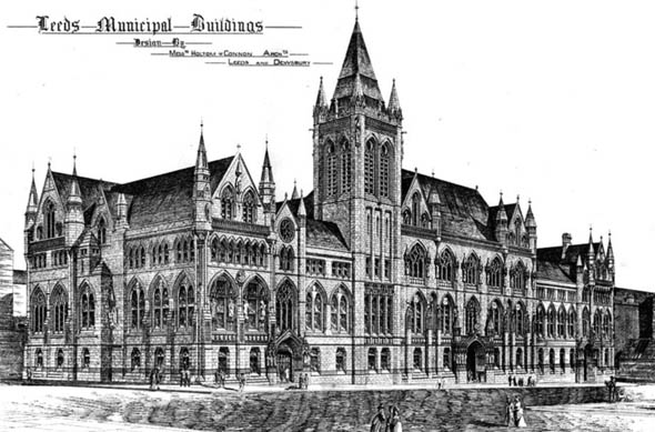 1877 – Leeds Municipal Buildings, Yorkshire