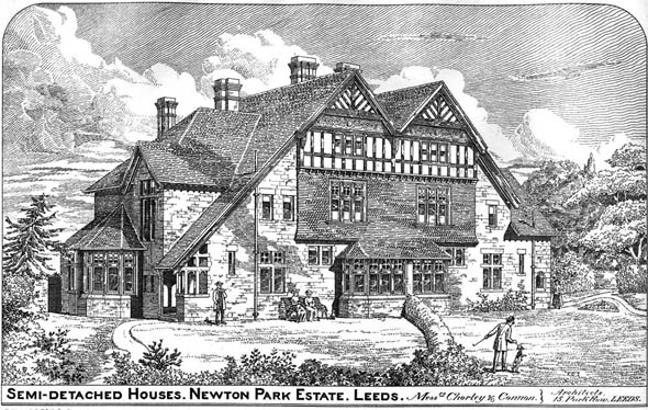 1886 &#8211; Semi-Detatched Houses, Newton Park Estate, Leeds, Yorkshire