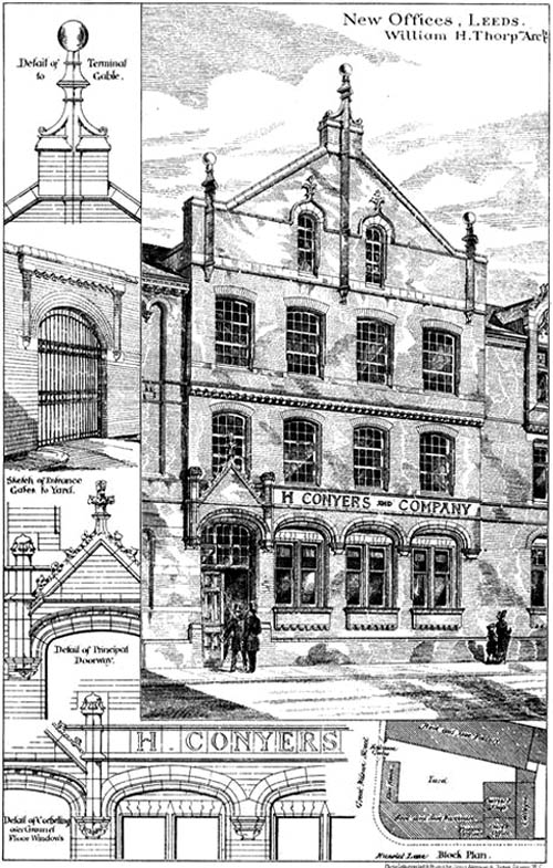 1883 &#8211; New Offices, Leeds, Yorkshire