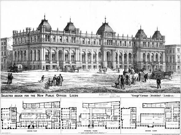 1877 – New Public Offices, Leeds, Yorkshire