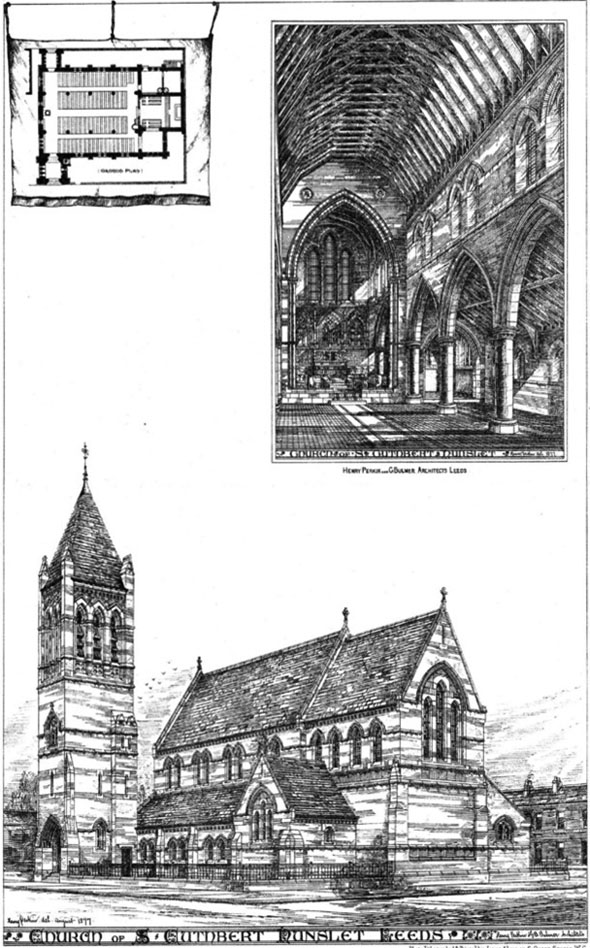 1880 – Church of St. Cuthbert, Hunslet, Leeds, Yorkshire